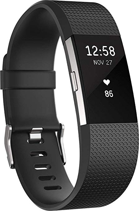 Fitbit Charge 2 Heart Rate plus Fitness Wristband Black Large US Version