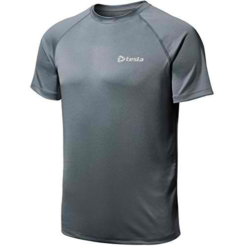 Tesla Mens HyperDri Short Sleeve TShirt Athletic Cool Running Top