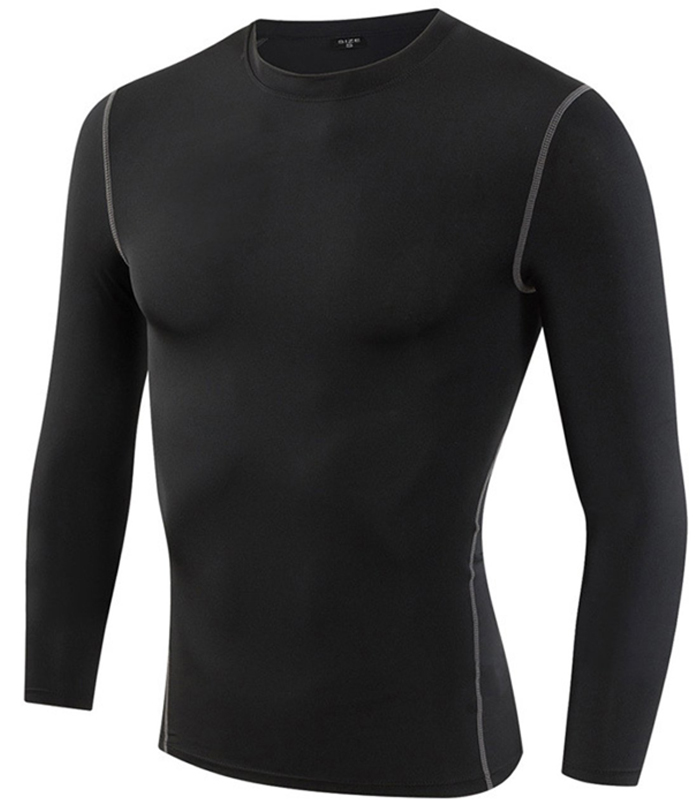 Yuerlian Men Compression Shirts Long Sleeve Thermal Baselayer Coldgeat Running Shirts