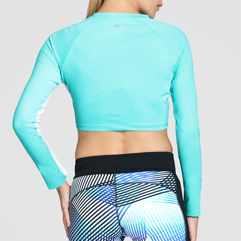 Tail Velocity Long Sleeve Crop Top